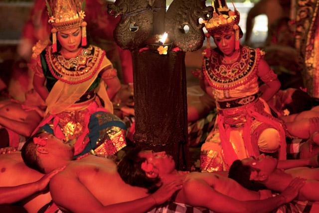 BALI - MAY 2012: kecak dance performance on stage