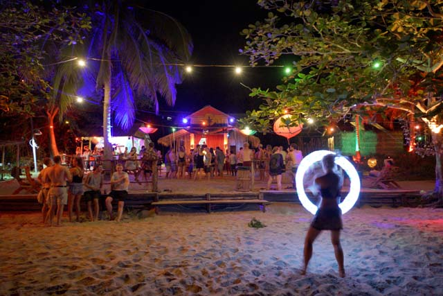 police beach party koh rong cambodia